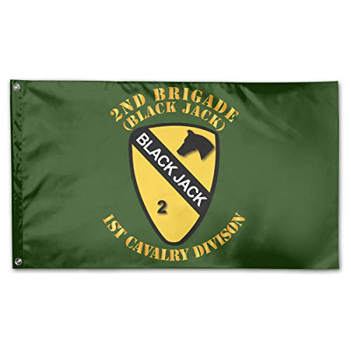 2nd Brigade 1st Cav Div Black Jack Offset Home Flags 3 X 5 in Indoor&Outdoor Decorative Home Fall Flags Holiday Decor