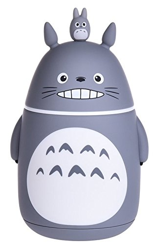 Bamboo's Grocery Cute Totoro Vacuum Bottle, Vacuum Cup, Travel Mug, 280 ML, Grey