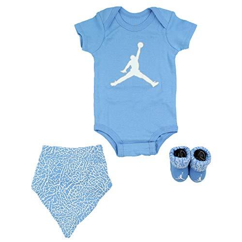 Air Jordan Infant 3 Piece Box Set University Blue (206), 0-6 Months (Infant Jordan 3 Piece Set)