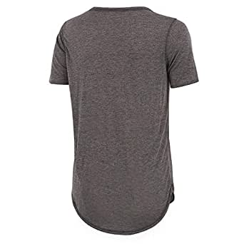 Aomo love Grey Polyester Round Neck T-Shirt For Women