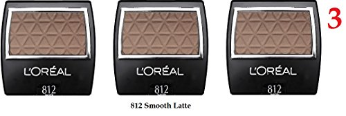 (Pack of 3) - VALUE PACK! - L'Oreal Paris Wear Infinite Eye Shadow Singles, 812 Smooth Latte, 0.1 Ounces for sale
