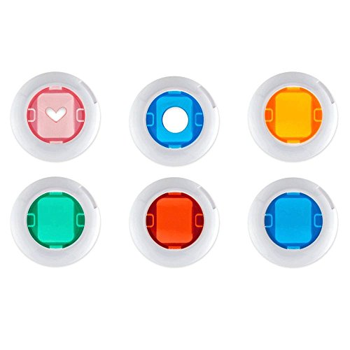 6 Colored close Up Filters for Fuji Instax Mini 8 8+ 9 Close Up Lens Filters - Top - Heart Lens