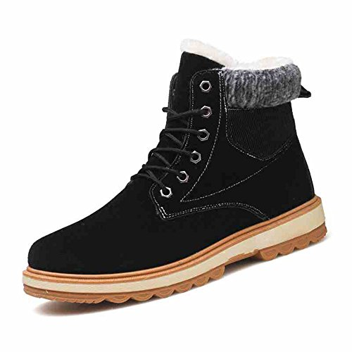 Men's Shoes Feifei High-Quality Materials Winter Non-Slip Thickening Trendy Leisure Keep Warm 3 Colors Black M2zoI