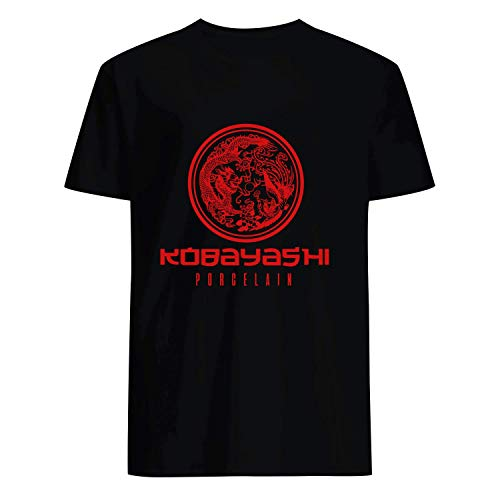 USA 80s TEE Kobayashi Porcelain Shirt Black