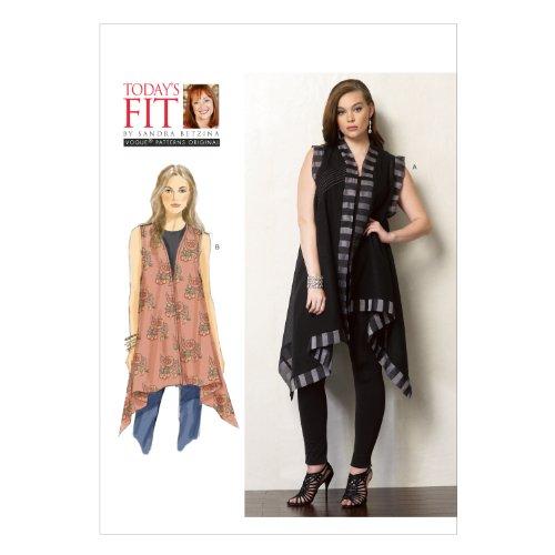 - Vogue Patterns V1375 Misses' Top Sewing Template