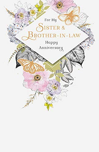 Brother & Sister in Law Wedding Anniversary Card
