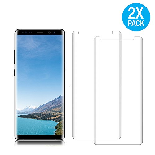 [2 Pack] Galaxy Note 8 Tempered Glass Screen Protector, Ayaeos [HD Clear][Anti-Bubble][Anti-Scratch][Anti-Fingerprint] Tempered Glass Screen Protector For Samsung Galaxy Note 8
