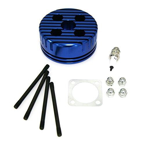 Northtiger Custom Blue CNC Cylinder Head Spark Plug Bolts Fit 66/80cc Motorized Bicycle ()