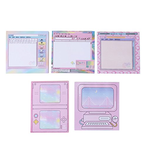 Qupida Creative Computer Game Shape Memo Pad DIY Diary Sticky Notes Office Supplies