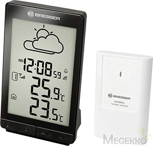 Bresser TemeoTrend STX Radio Weather Station with Weather Trend Display Alarm with Outdoor Sensor Black