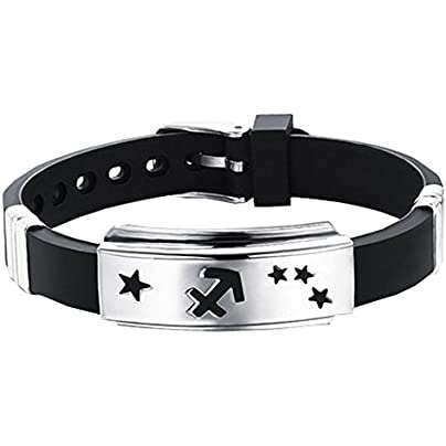 Alien Storehouse Zodiac Bracelets Titanium Steel Hand Ring Wristbands Sagittarius Estimated Price £13.69 -