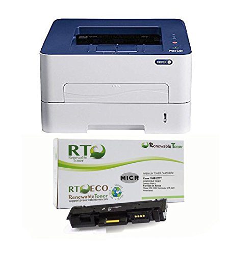 Renewable Toner MICR Check Printing Package: Xerox 3260DI Printer and 1 RT MICR Toner Cartridge 1500 Yield for Printing Business and Personal Checks