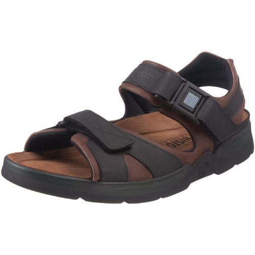 Mephisto Men's Shark Fit Sandal,Dark Brown,11 M US