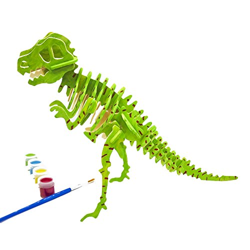 Miscy 3d Puzzle Arts Projects Craft Wood 3d Puzzles for Kids Ages 68 ampup Assemble Paint DIY Animal Crafts TRex Dinosaurs