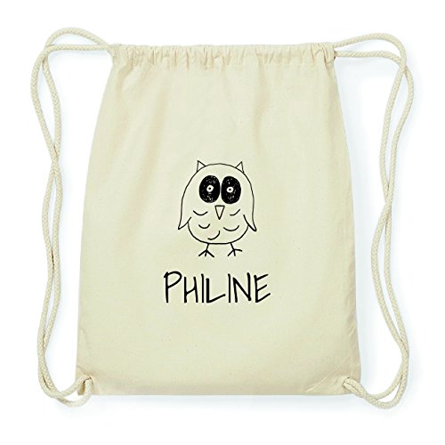 JOllipets PHILINE Hipster Turnbeutel Tasche Rucksack aus Baumwolle Design: Eule VmuNC4