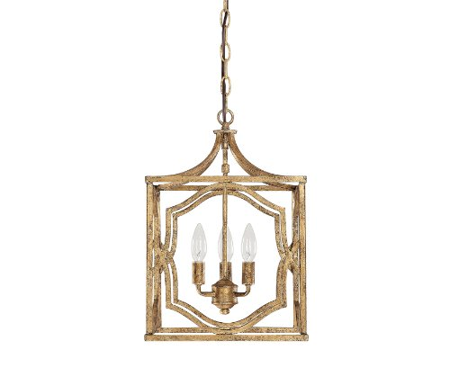 Capital Lighting 9481AG Blakely 3-Light Foyer Fixture, Antique Gold Finish - Capital Lighting Traditional Lantern