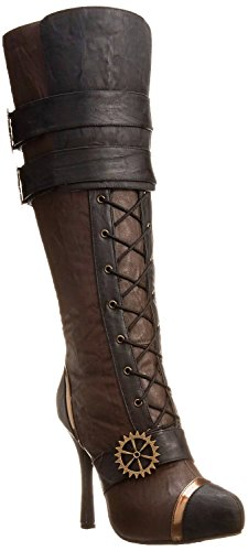 ELLIE 420 QUINLEY Womens Brown Steampunk Boots ()