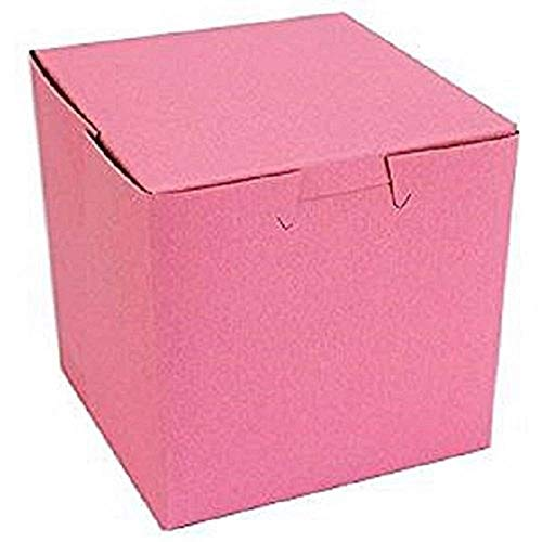 Pink Bakery Single Cupcake Box 4 X 4 X 4 inch (30) Made in USA by Southern Champion Tray