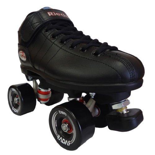 Riedell R3 Zen Black Outdoor Speed Skates - R3 Zen Roller Derby Skate by Riedell