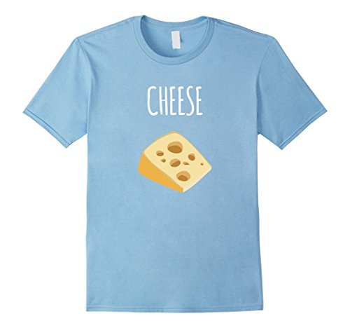 Cute Simple Couple Costumes (Mens Cheese And Wine Matching Halloween Costumes T-shirt XL Baby Blue)