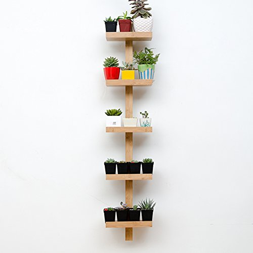 Flower Racks Flower stand Plant stand Plant flower pot rack Display shelf Shelf holds Wood plant stand Balcony Living room Windowsill Hanging-C by DECORATION