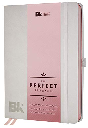 The Perfect Planner by BK. Undated Planner for 2019-20 with Weekly & Monthly Structures for Academic or Professional. A5 (5.8 x 8.3) Gray Hardcover (Rose Gold Edges) (Names That Start With E In The Bible)
