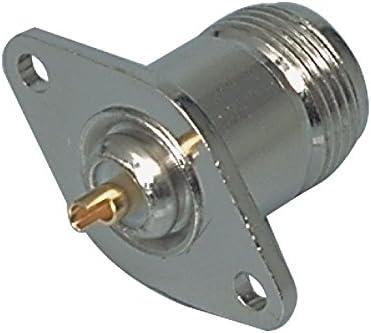 973977002189 N-Einbaubuchse Valueline Stecker N Female Metall Silber