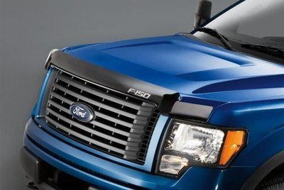 Factory Hood - Oem Factory Stock Genuine Ford 2009 2010 2011 2012 2013 2014 F-150 F150 Logo Smoked Color Hood Deflector Bug Shield