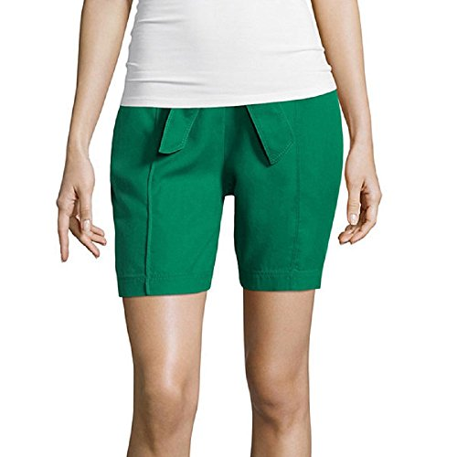 liz-claiborne-ultimate-green-pull-on-shorts-size-xl