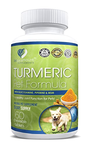 Bio Paramount Turmeric Supplement for Pets – Supports Joint Pain, Strengthen Bones, Improve Digestion and Brain Health – Prevent Inflammation and Arthritis |100% Natural Review