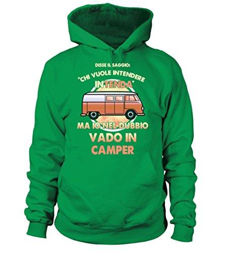 Nel Donna Verde Teezily Camper Felpa Io Con In Uomo Irlandese Cappuccio Vado Dubbio WWvn5qrZB