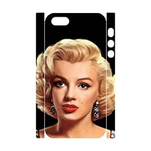 J-LV-F Cell phone Protection Cover 3D Case Marilyn Monroe For Iphone 5,5S