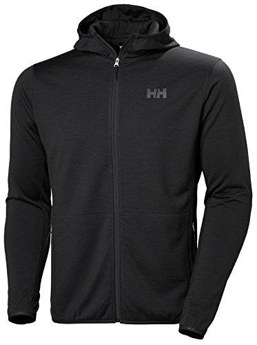 Helly Hansen Mens HH Merino Fleece Hooded Jacket - Ebony, M by Helly Hensen (Image #3)