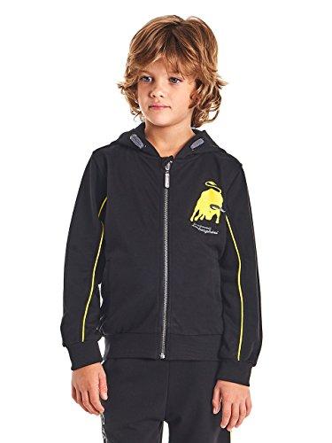 LAMBORGHINI Big Bull Kid's Hooded Sweatshirt in Black (8 (Bull Kids Hooded Sweatshirt)