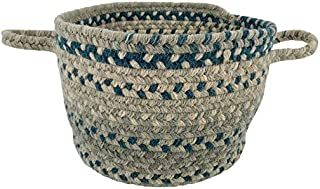 "product image for Capel Melange Blue Beige 0' 12"" Basket Braided Rug"