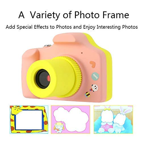 ZEERKEER HD Mini Digital Video Cameras,Kids Childrens Point and Shoot Digital Video Camera Recorders Cute Birthday for Kids (Pink) by ZEERKEER (Image #2)