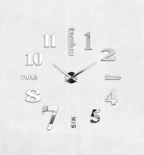 MAX3D Reloj De Pared Adhesivo Vinilo DIY Ø 130cm XXL Grande Reloj: Amazon.es: Hogar