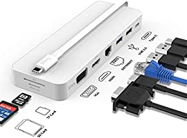 タイプ C ハブ 8イン1,iFory usb type c hubタイプ C アダプタusbタイプc ハブ 4K HDMI/VGA付 1Gbps RJ45 イーサネット ポート 2 ポート3.0 USB SD/TFカード リーダー 100W...