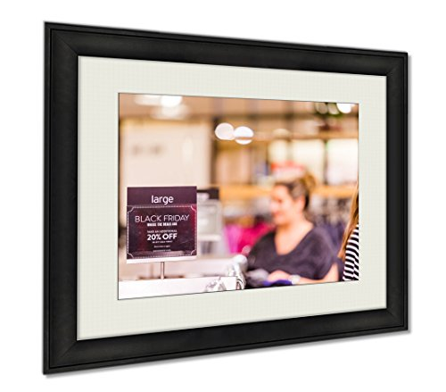 Ashley Framed Prints Shopping Sign At Mall, Wall Art Home Decoration, Color, 34x40 (frame size), - Mall Meadows Park Shopping