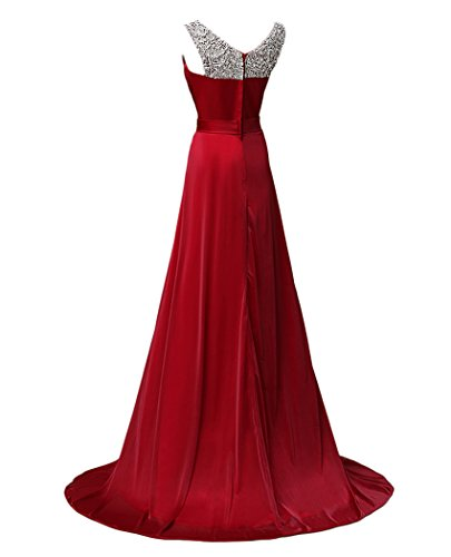 Elegant Fuchsia Prom Chiffon Sequins Dress Gowns QiJunGe Formal Party Beaded Evening qBFxAwXR