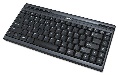 (SIIG Keyboard JK-US0312-S1 USB Mini Multimedia Electronic Consumer Electronics)
