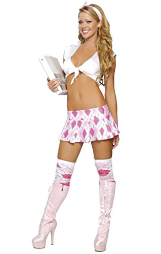 [Sexy Pink Diamond School Girl Halloween Costume] (Catholic School Girl Costumes Halloween)