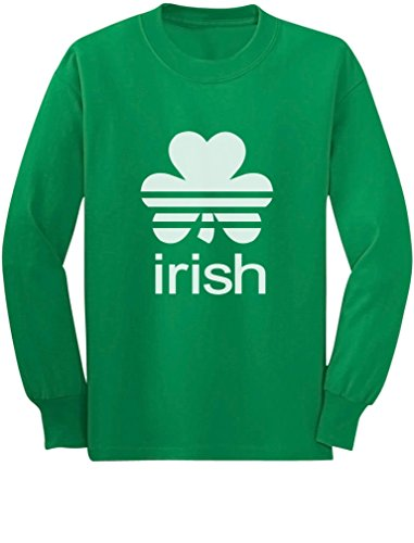 TeeStars - Irish Shamrock St. Patrick's Day Long Sleeve Kids T-shirt Large Green -