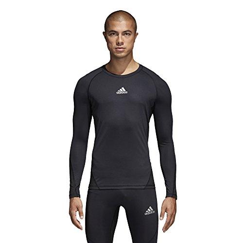 adidas Alphaskin Long Sleeve Compression T-Shirt (841T) L/Black
