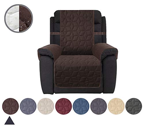 Ameritex Waterproof Nonslip Recliner Cover Christmas Decor Stay in Place, Dog Couch Chair Cover Furniture Protector, Ideal Loveseat Slipcovers for Pets and Kids