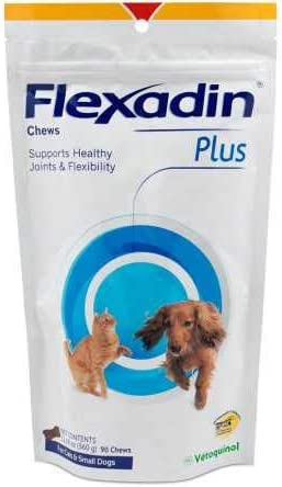 Vetoquinol Flexadin Plus Chews for Cats Small Dogs 12.69 oz 360 g 90 Chews