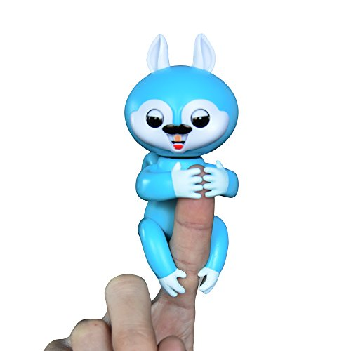 Interactive Baby Finger Squirrel Electronic Toy for Children(Blue)