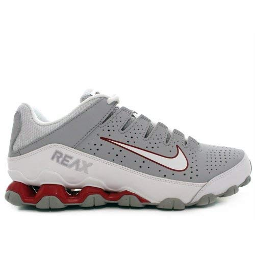 NIKE Men's Reax 8 TR, Wolf Grey/White-Gym Red, 8.5 M US