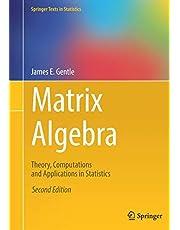 Matrix Algebra: Theory, Computations and Applications in Statistics