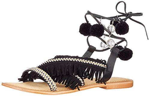 Vero Moda Donne Vmwally Pelle Sandalo Romano Sandalo Nero (nero)